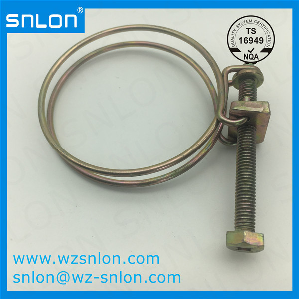Automotive Adjustable Double Wire Hose Clamp for Auto Parts