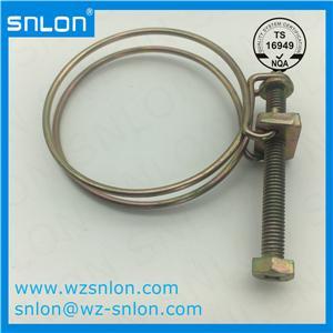 Automotive Adjustable Double Wire Hose Clamp for Auto Parts
