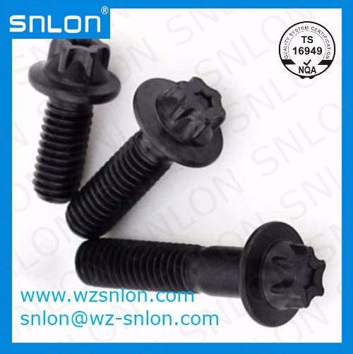 Metric Coarse External Torx Bolt With Flange Manufacturers, Metric Coarse External Torx Bolt With Flange Factory, Supply Metric Coarse External Torx Bolt With Flange