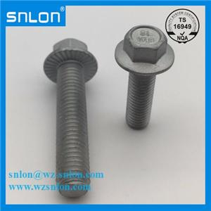 Hex Head Bolt with Flange Screw Class 10.9 High Strength