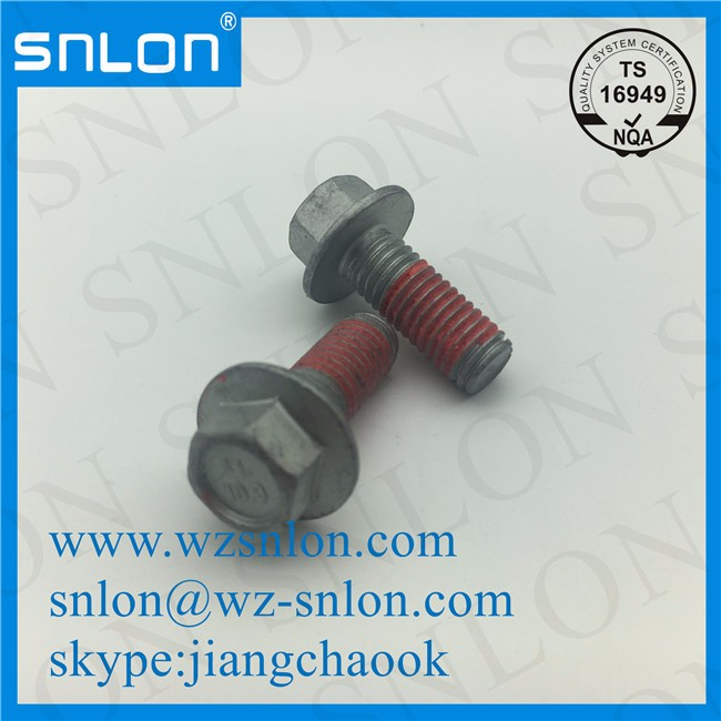 Anti Loose Flange Bolt With Glue Grade 10.9