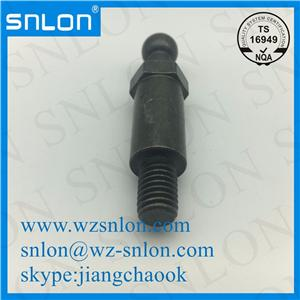 Cnc zinc palted ball head pin