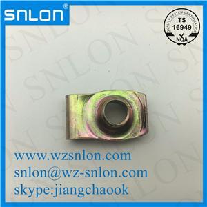 U Style Spring Nut Zinc Plated Steel