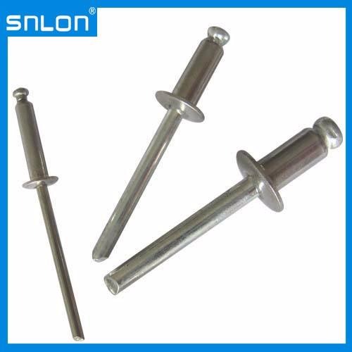 DIN7337 Aluminium Steel Blind Rivet with Break Pull Mandrel Self-Plugging Rivets
