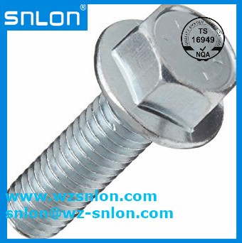 Chrome Plated Steel Hex Flange Bolts