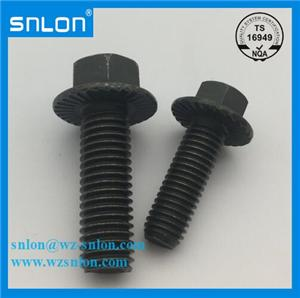 high quality carbon steel alloy steel din 6921 hex flange bolt