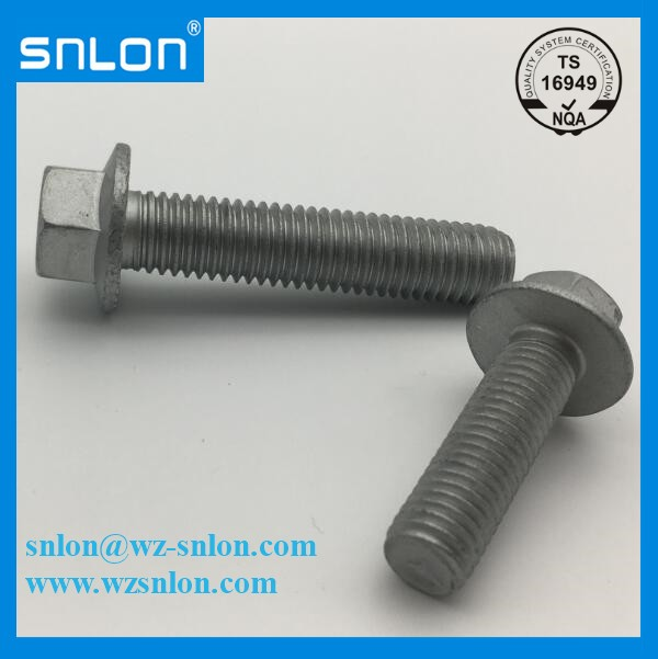 M4 M6 M8 M10 M12 M16 M19 hex flange serrated bolts