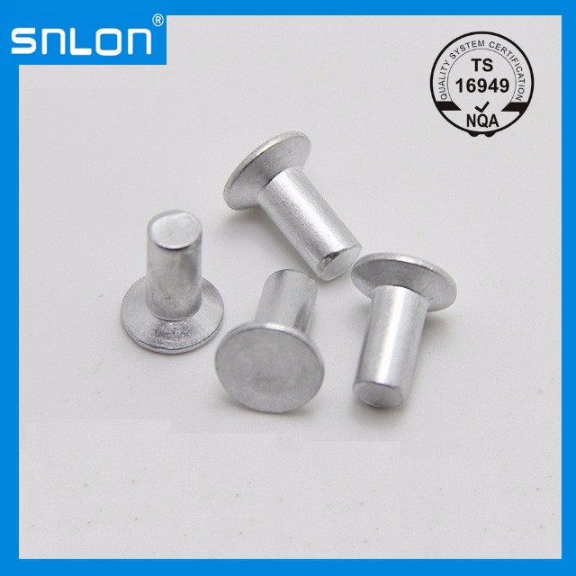 Flat Head Aluminum Rivets Countersunk Solid Rivet Screws