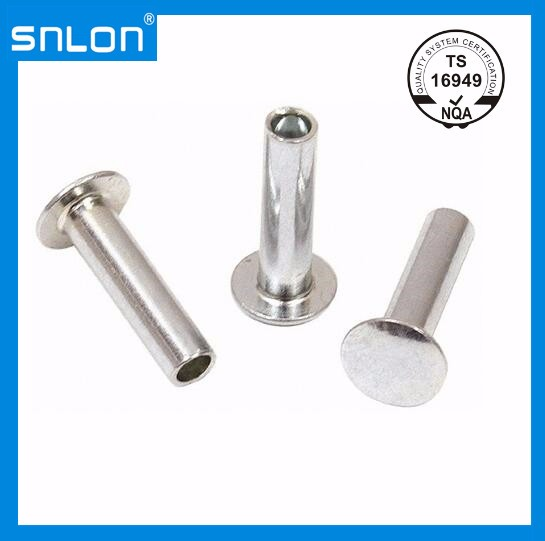 Aluminium Semi Tubular Countersunk Head Rivets Manufacturers, Aluminium Semi Tubular Countersunk Head Rivets Factory, Supply Aluminium Semi Tubular Countersunk Head Rivets
