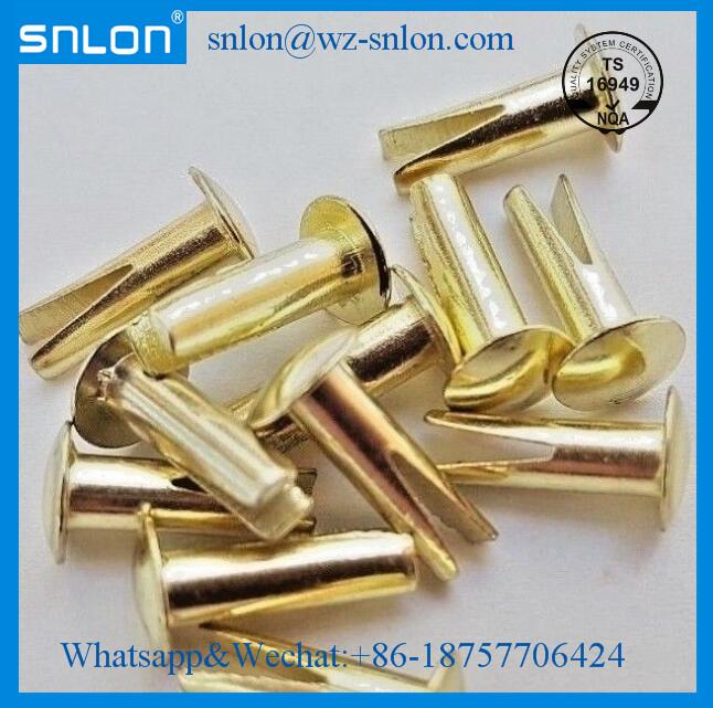 Brass split rivets bifurcated rivet round head.jpg
