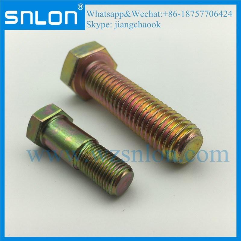 High Tensile Hex Bolt Screw Fine Thread for Auto Parts