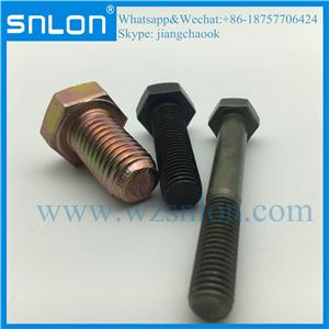 Hexagon Head Bolt With Metric Fine Pitch Thread