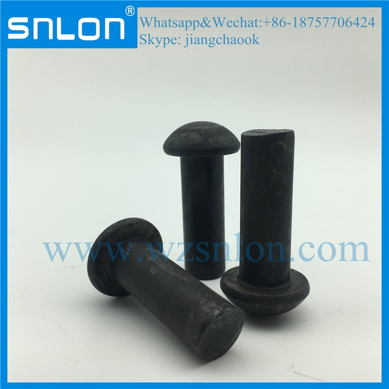 Zinc Nickel Small Round Head Solid Rivet