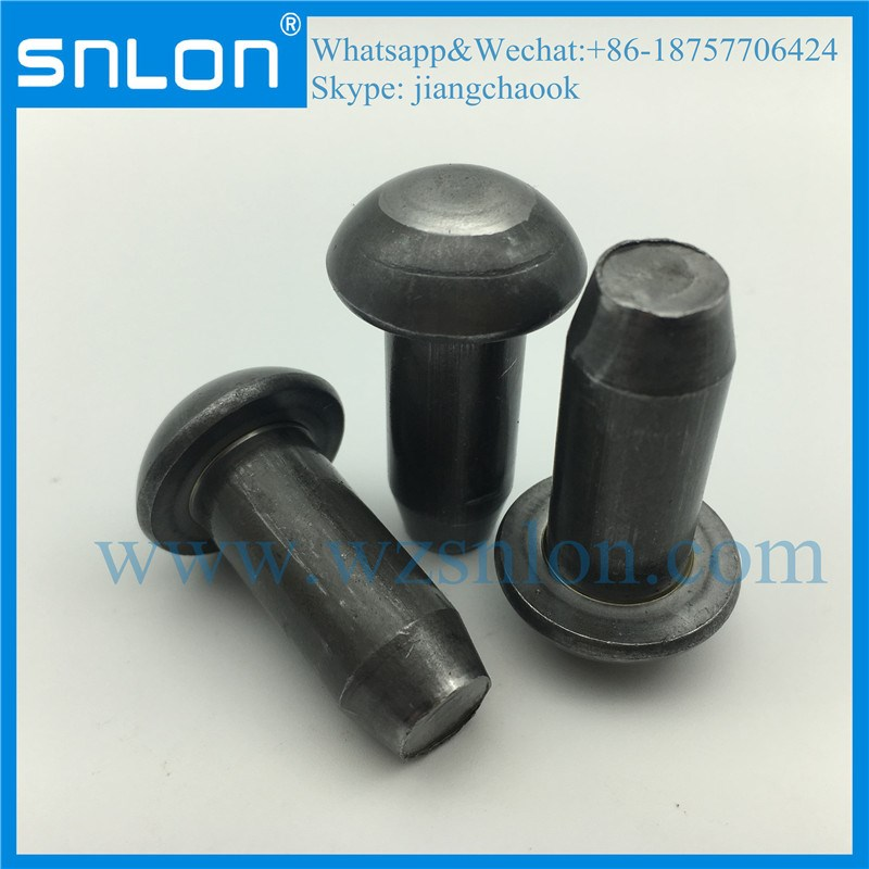 Black Phosphate Small Round Head Solid Rivet