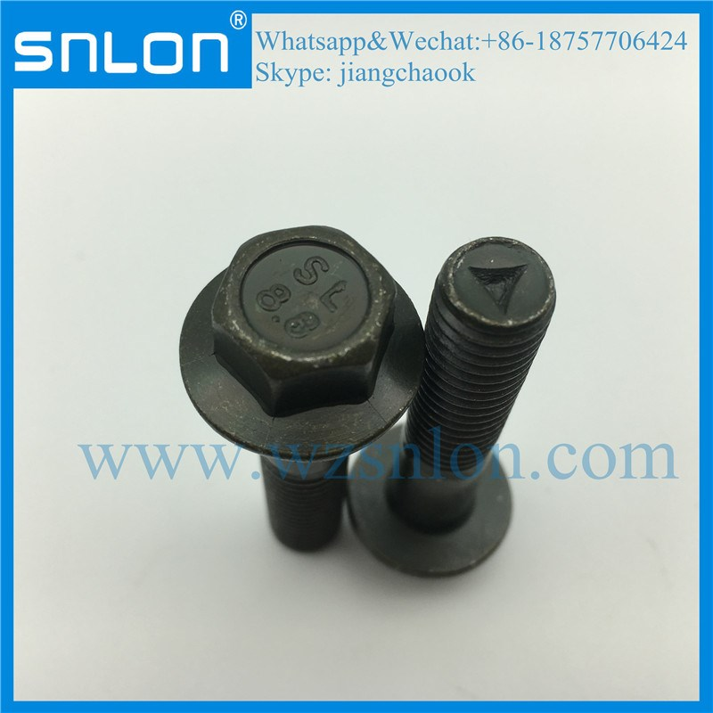 Green Zinc Coating Hex Head Bolt With Flange