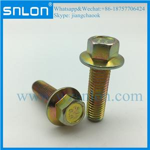 Chrome Coating Hex Head Bolt With Flange