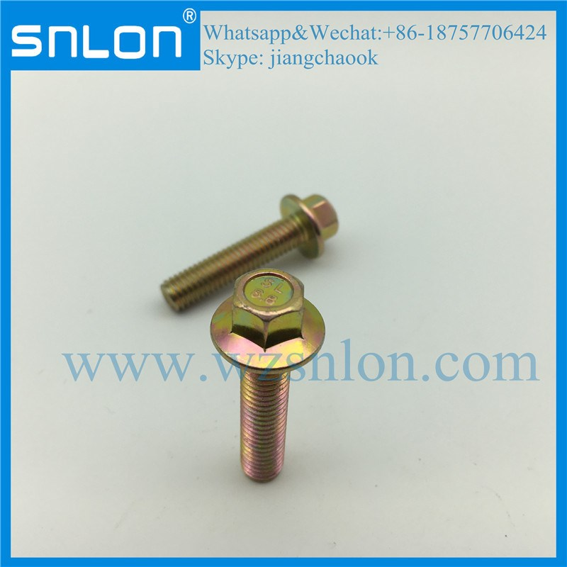 Grade 8.8 Colour Zinc Coating Hex Head Flange Screw