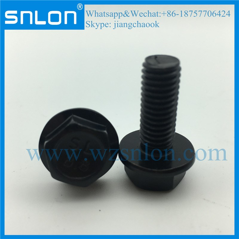 High Tensile Black Oxide Hex Flange Bolt