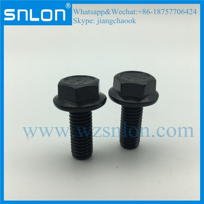 Bullone flangiato esagonale fosfato nero ad alta resistenza
