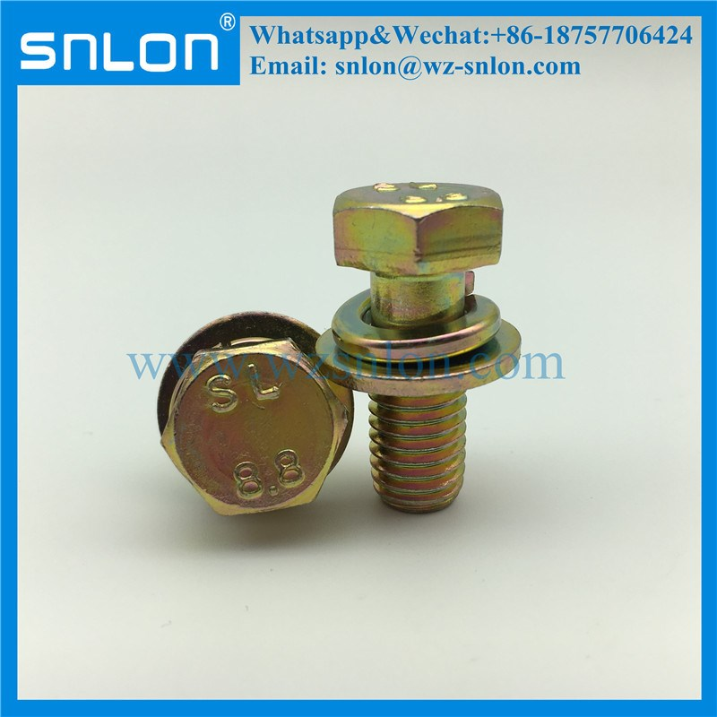 Grade8.8 Hex Screw And Spring Washer Assemblies