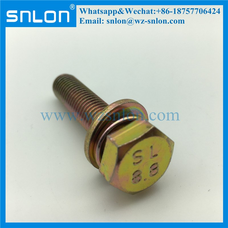Hex Head SEM Combination Screws Assembled With Flat & Spring Washer