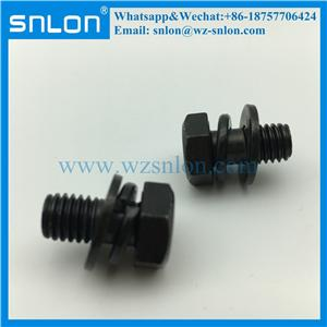 M6 M8 Grade 4.8/8.8 Galvanized Steel Assembled Screw With Spring & Flat Washer (din6900)