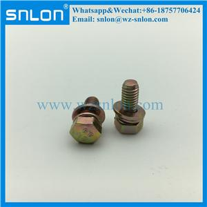 Carbon Steel Assembled Screw With Spring Washer And Flat Washer