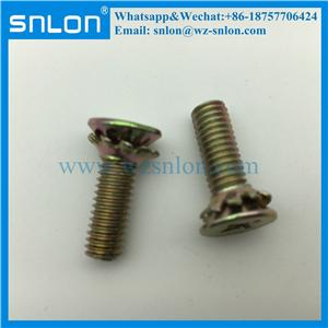 Factory Supply Zinc Plating Machine Screw With Serrated Tooth Lock Washer