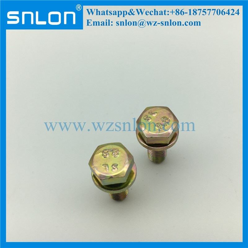 Hex Bolt Machine Screw with Washer