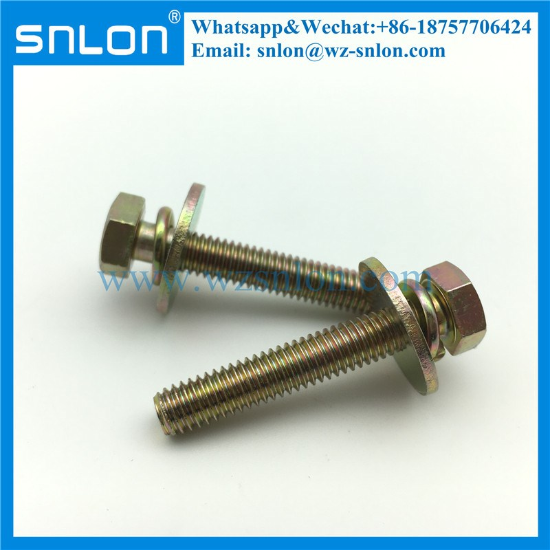 Round Head Two Combination Sem Machine Screws With Big Washer
