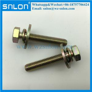 Stainless Steel Hex Head Two Combination Sem Machine Screw With Big Washer