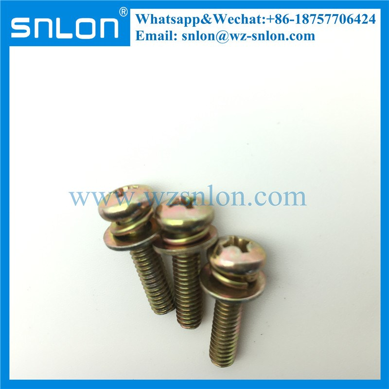 Philips Pan Head Sems Screw with Spring Washer and Flat Washer