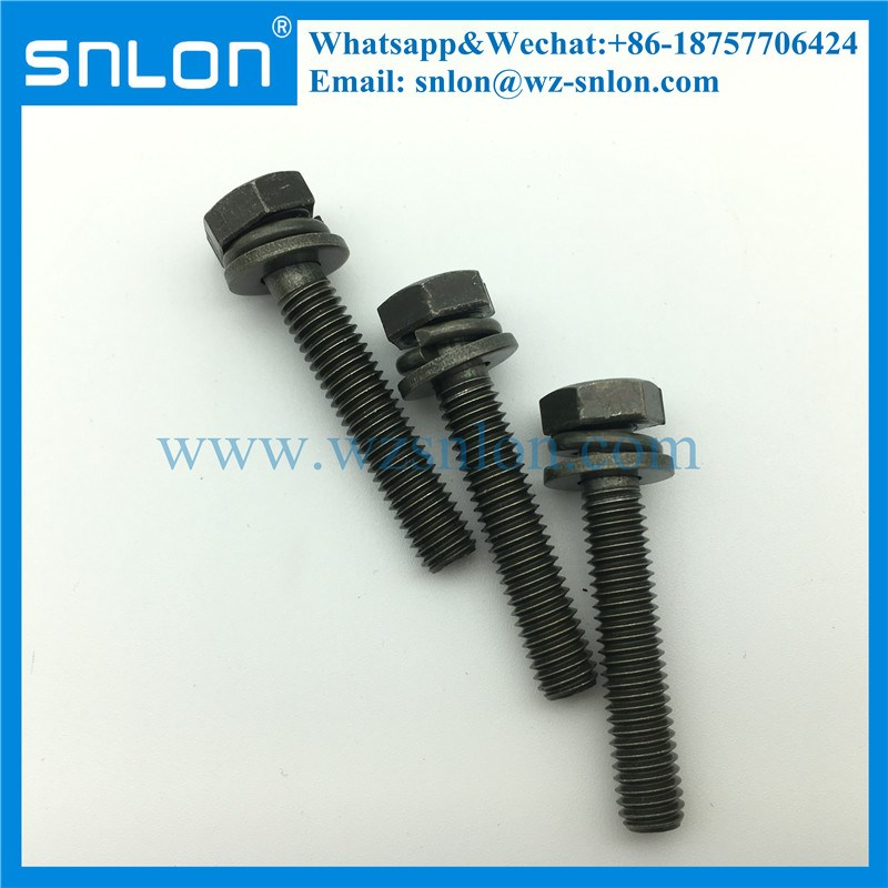 Three Parts Hex Head Combination Washer Machine Screw