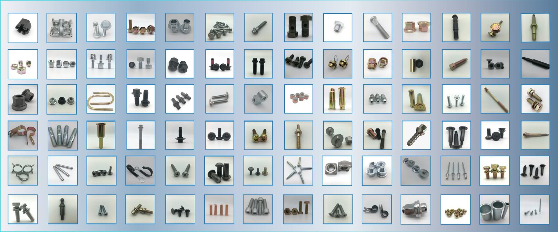 Flange screw press screw wheel bolt automotive fasteners