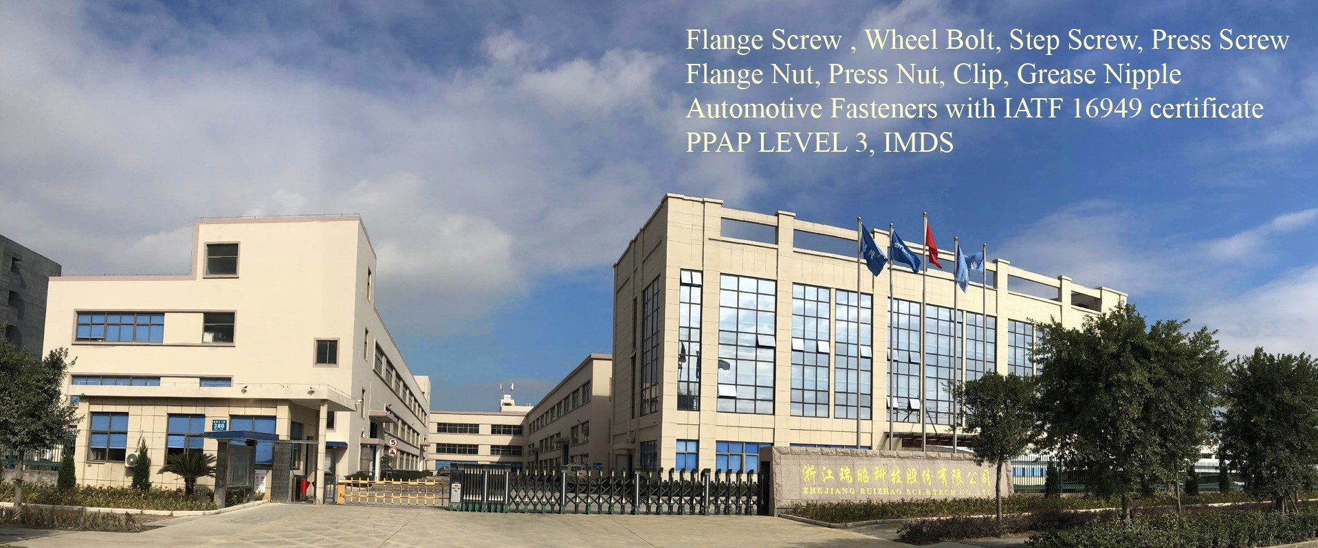 Flange screw press screw wheel bolt flange nut automotive fasteners