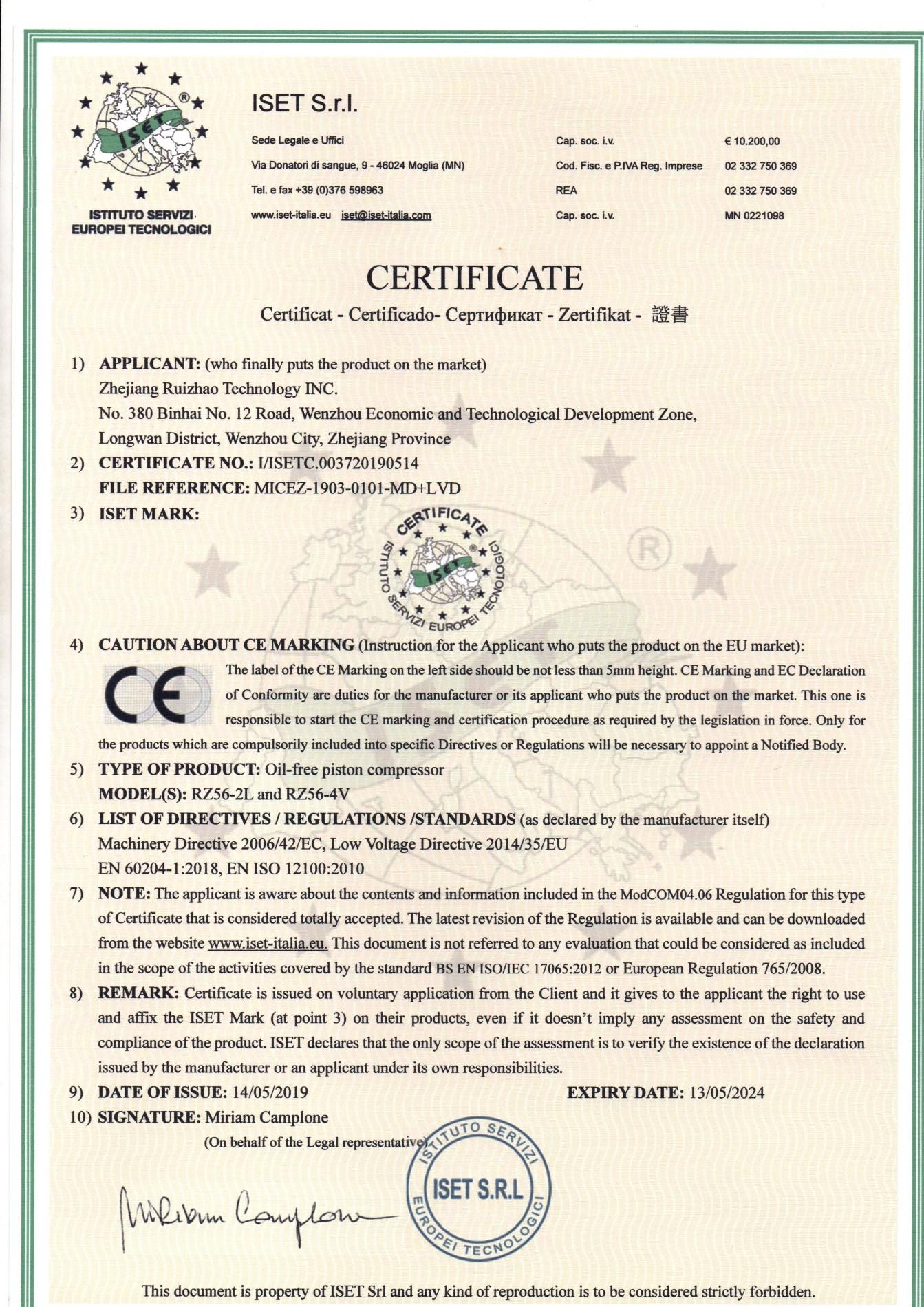 CE-Zertifikat