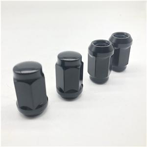 Electroforesis Negro M12x1.5 Tuerca de rueda tuerca de cubo de rueda para vehículo