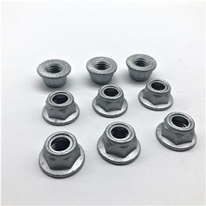 Nut Hex Serrated Flange Nylon Insert M10X1.5 Cl8.8 Dacromet Gr4 Nylon lock nut