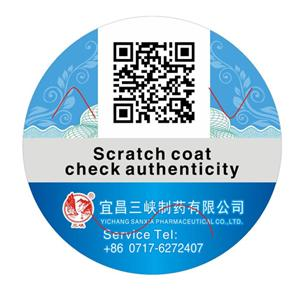 Scraping Anti-counterfeit Labels Paper