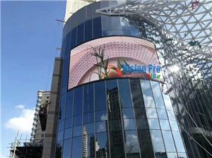 Convex Outdoor PH10 LED Display for Advertising 145SQM