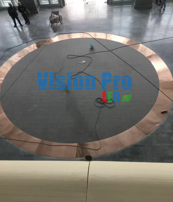 Round LED dance floor