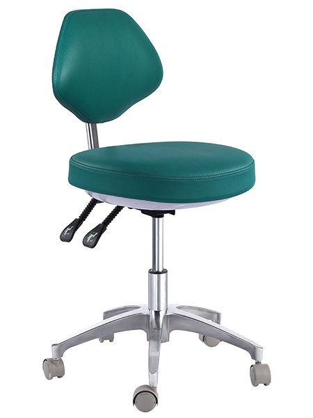 Rolling Doctor Stool With Back