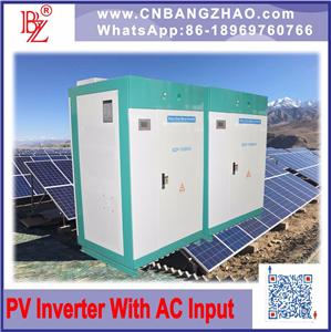 BZ power 150kw low frequecny isolation hybrid inverter with 3 phase 480VAC output