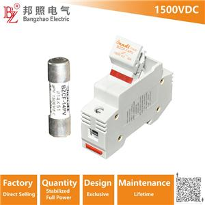 1500VDC High voltage PV fuse holder with 1500V DC fuse