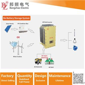 Battery-free energy storage hybrid solar system 3 phase 100KW with AC generator input