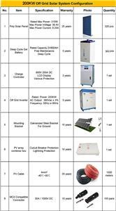 200KW 600VDC 3 phase output solar power system for Sewage treatment station