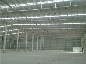 Large span steel frame structure warehouse