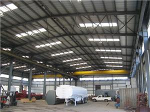 Industry Steel Frame Workshop Buildings With Crane