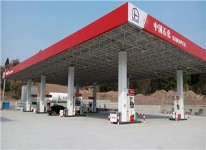 Steel Structure Gas Station With Canopy
