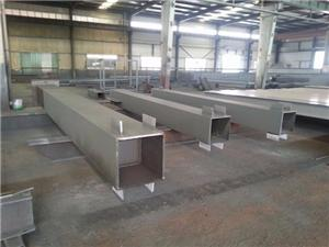 Welded steel box beam and column